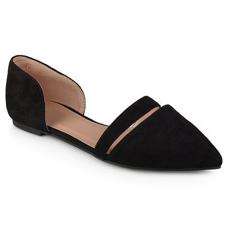 Journee Collection Womens Nita Ballet Flats, 6 Medium, Black