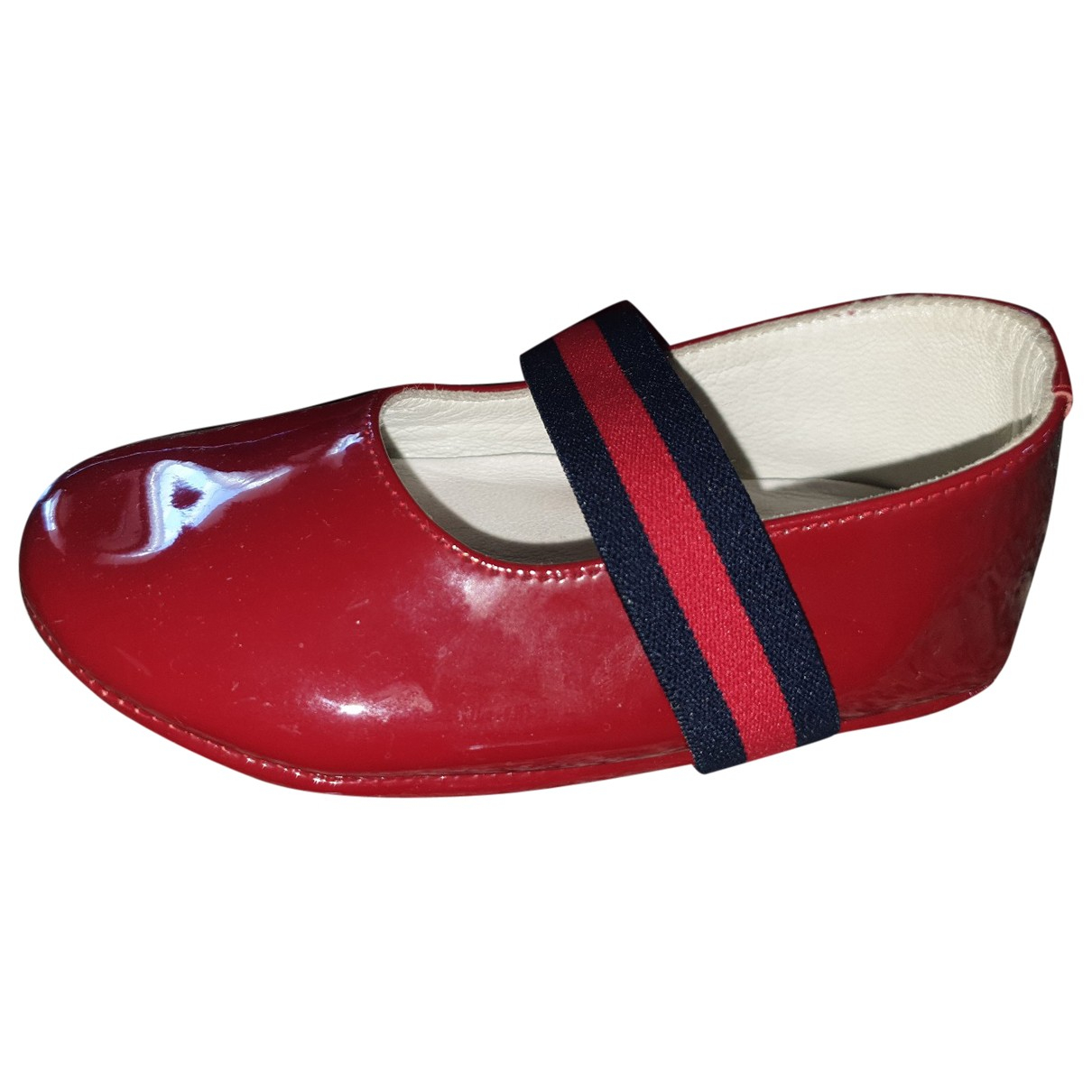 Gucci \N Burgundy Patent leather Ballet flats for Kids 18 FR