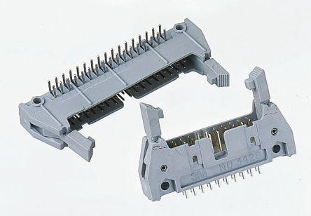 3M , 3000, 40 Way, 2 Row, Right Angle PCB Header