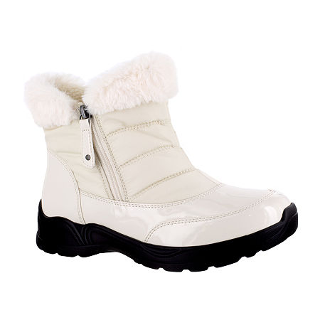 Easy Street Womens Frosty Waterproof Winter Boots, 7 1/2 Medium, White