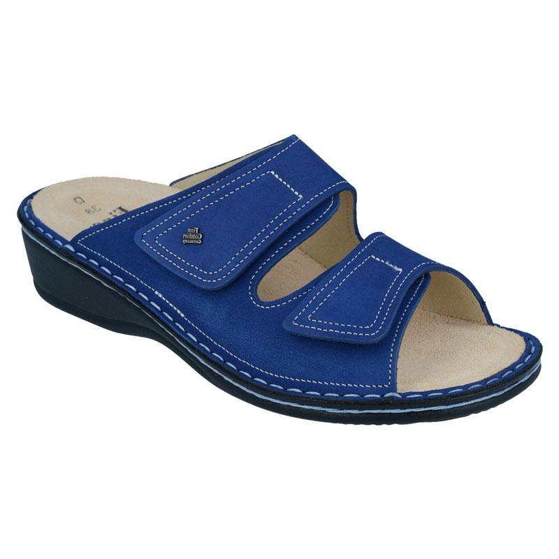 Finn Comfort Jamaica Cobalt Blue Nubuck Soft Footbed 39
