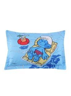 Smurf Floating on Ocean Sunbathing Printed One Piece Bed Pillowcase