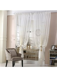 American Ins Style Elegant Embroidered Decorative Living Room Custom Semi Sheer Curtains