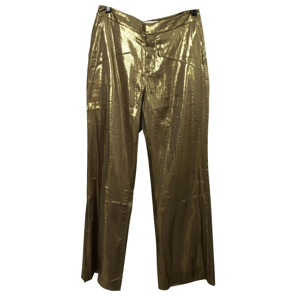 Derek Lam \N Gold Trousers for Women 6 US
