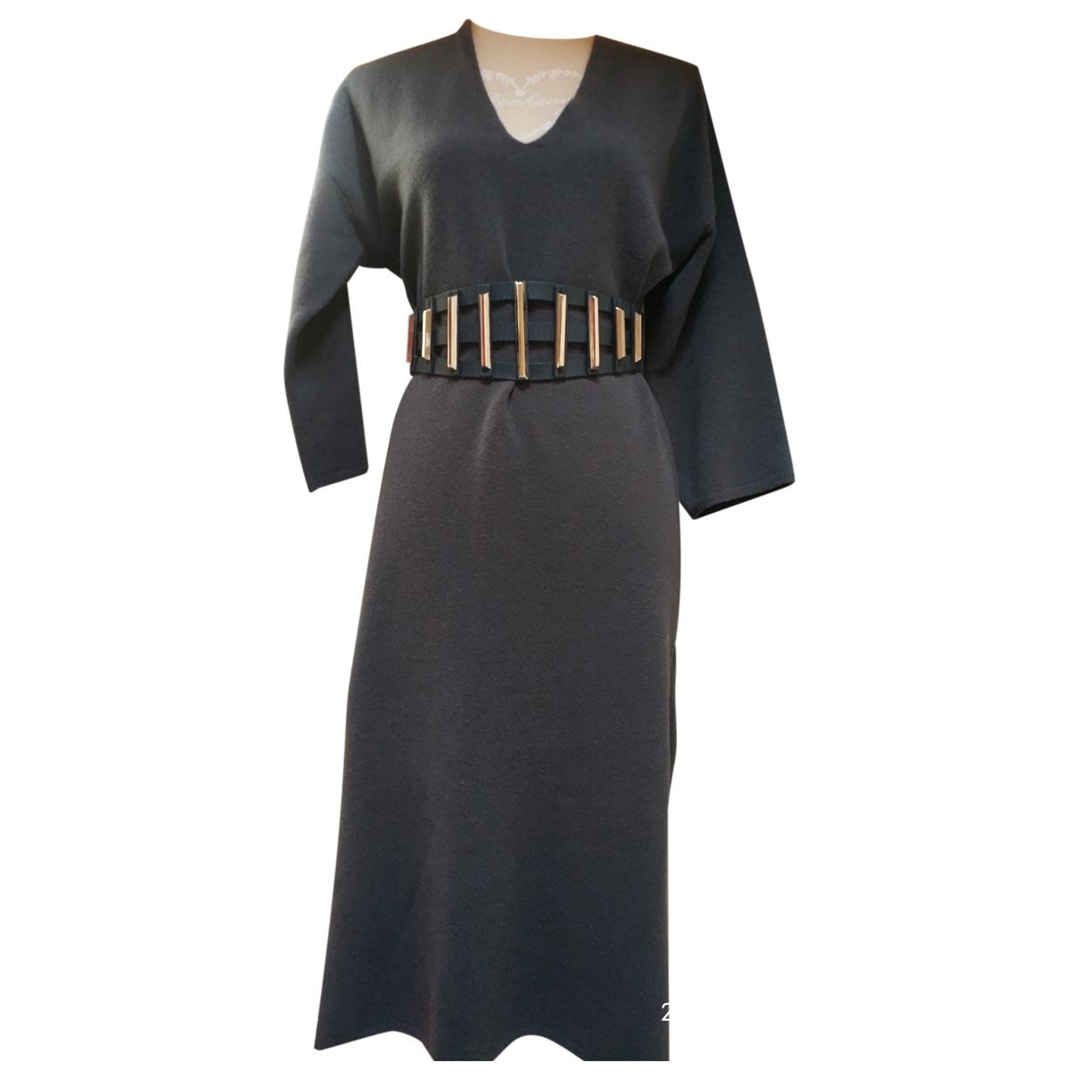 Massimo Dutti \N Grey Wool dress for Women M International
