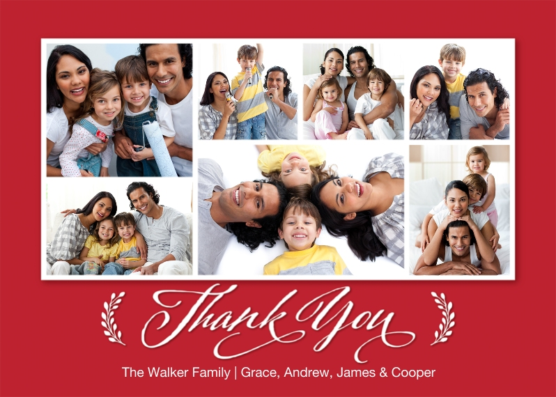 Thank You Cards 5x7 Cards, Premium Cardstock 120lb with Rounded Corners, Card & Stationery -Thank You Branches