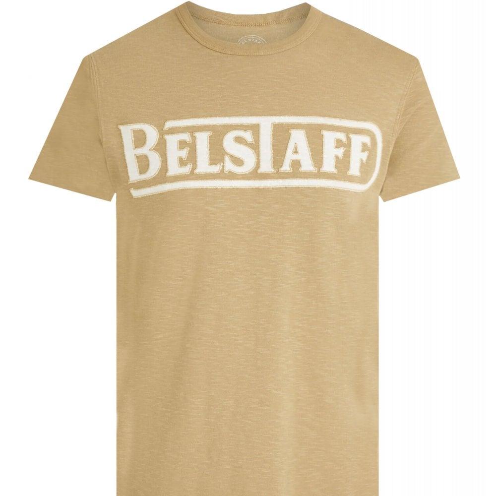 Belstaff Applique T-shirt Colour: BEIGE, Size: SMALL
