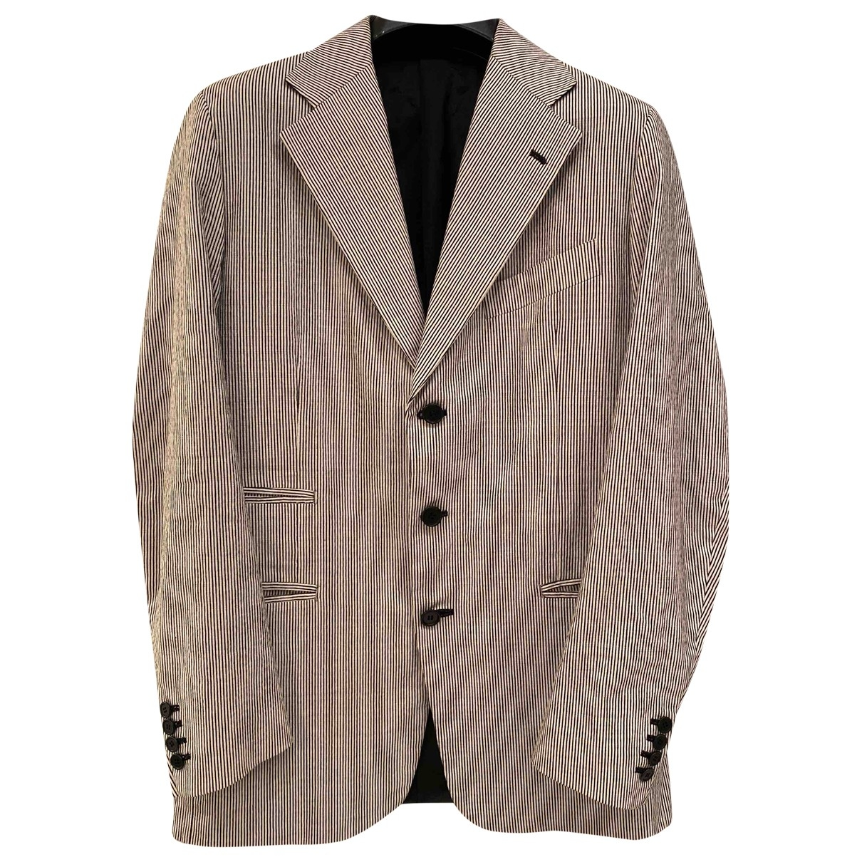 Non Signé / Unsigned \N White Cotton Suits for Men 50 IT