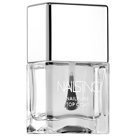 NAILS INC. NailPure Top Coat, One Size , Clear
