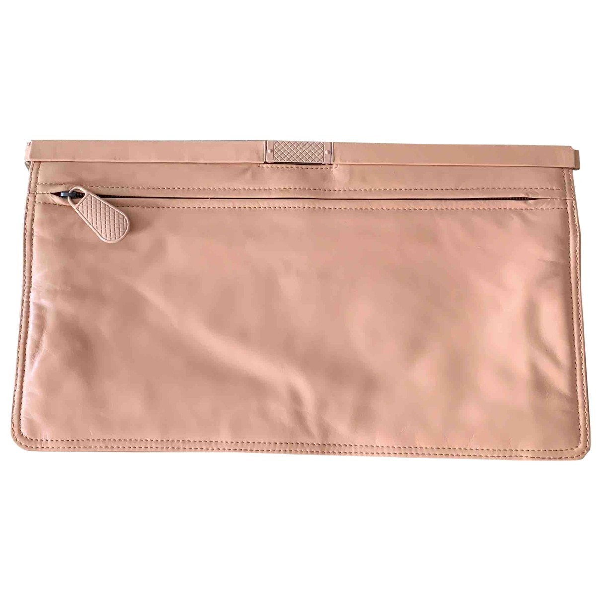 Bottega Veneta \N Pink Leather Clutch bag for Women \N