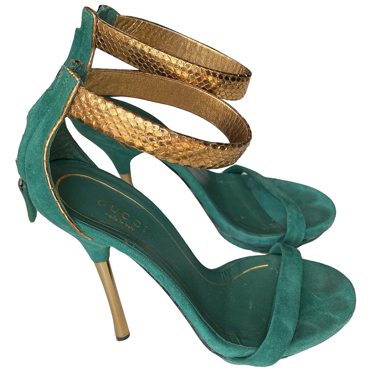 Gucci \N Green Suede Sandals for Women 35 EU