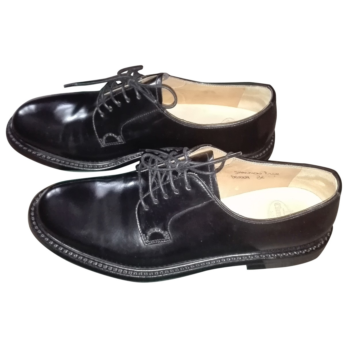 Church's \N Black Leather Lace ups for Women 36 EU