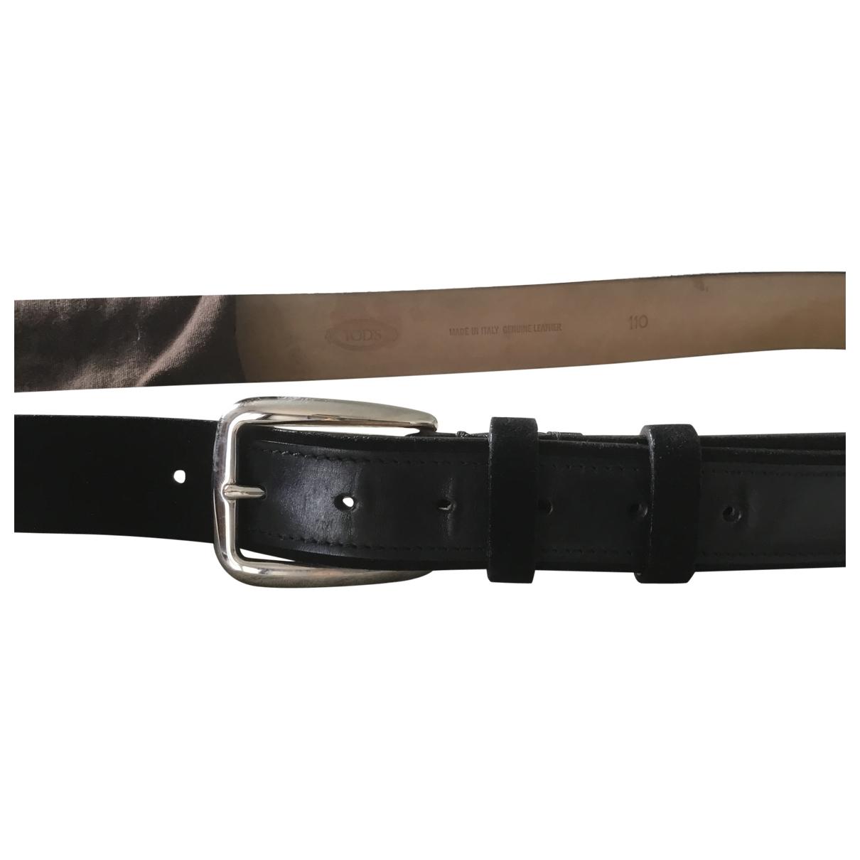 Tod's \N Black Leather belt for Men 100 cm