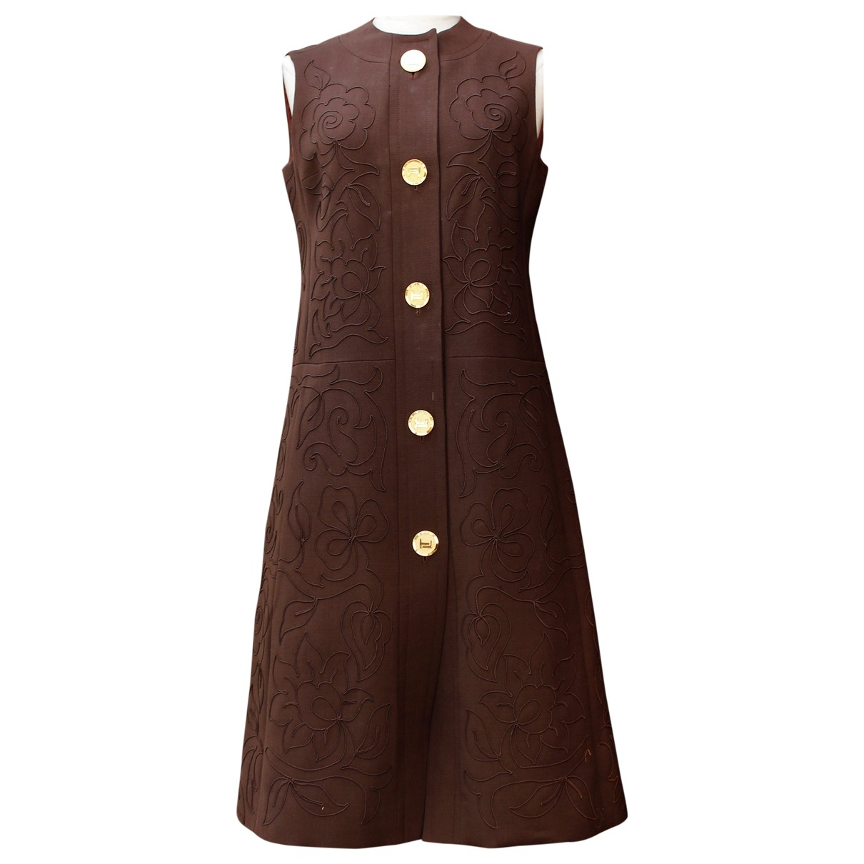 Ted Lapidus \N Brown Cotton dress for Women 40 FR