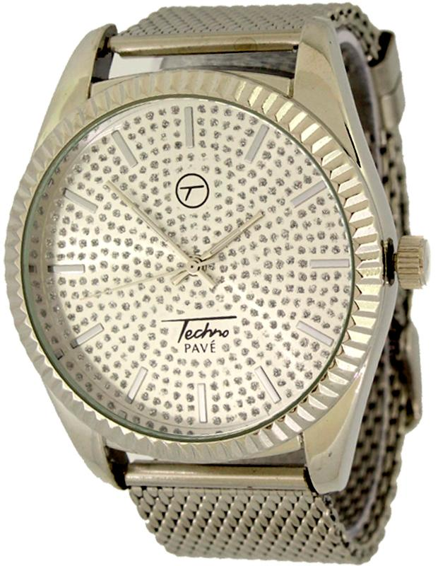 Silver Presidential Watch with Mesh Band