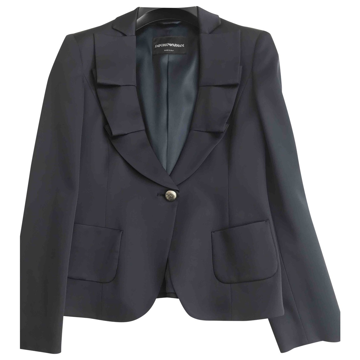 Emporio Armani \N Blue jacket for Women 40 IT
