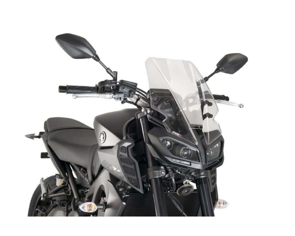 Puig 9377W Naked New Gen Touring Windscreen - Clear Yamaha MT-09 2017