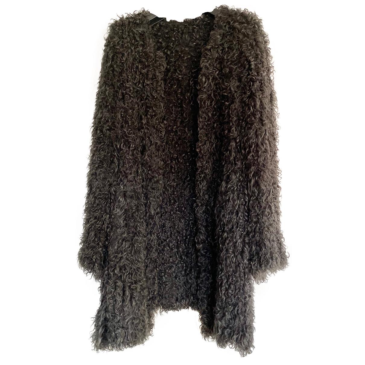 Yves Salomon \N Anthracite Fur coat for Women 38 IT