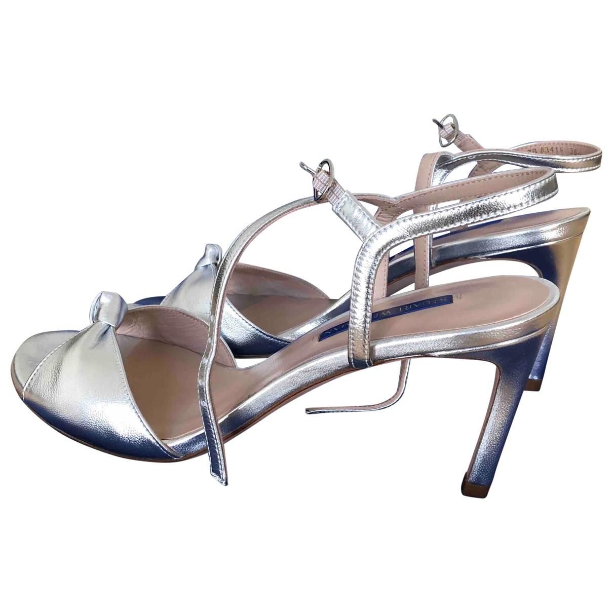 Stuart Weitzman \N Silver Leather Sandals for Women 38.5 EU