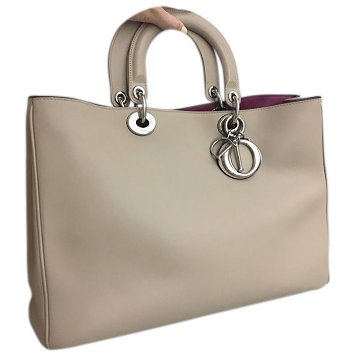 Dior Diorissimo Beige Leather handbag for Women \N