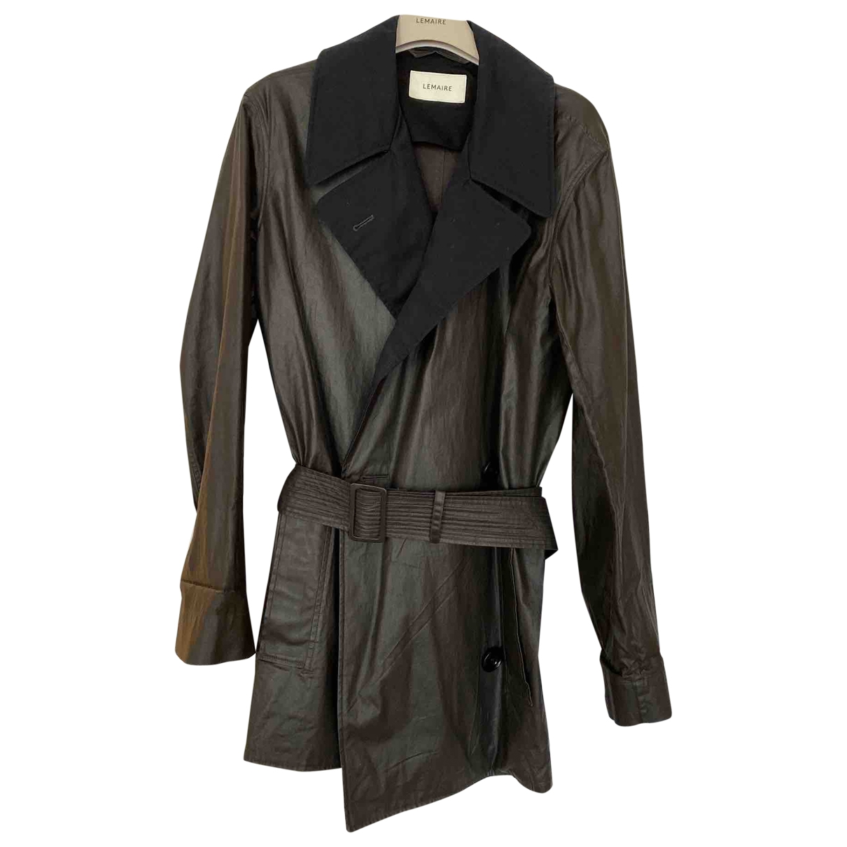 Lemaire \N Black Cotton Trench coat for Women 36 FR