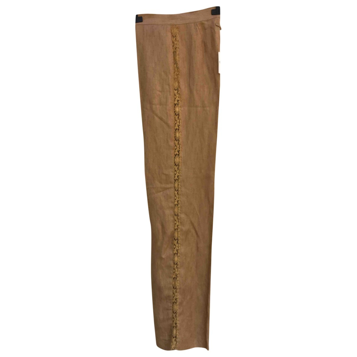 Jean Paul Gaultier \N Camel Cotton Trousers for Women 34 FR