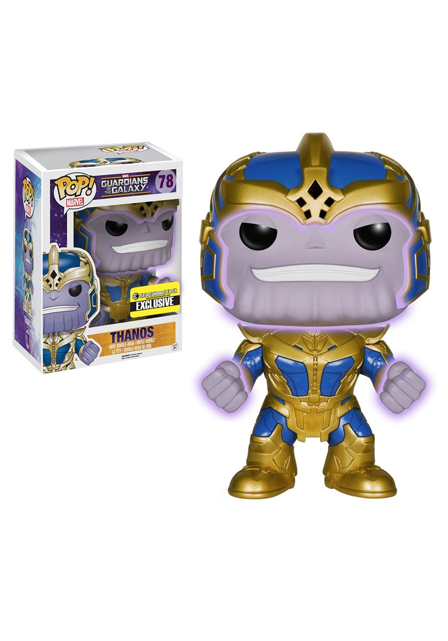 Marvel Guardians of the Galaxy Thanos Glow-in-the-Dark 6-Inch Pop! Vinyl Figure