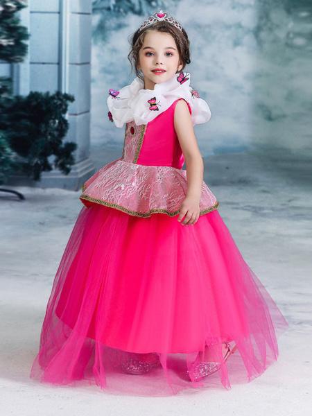 Milanoo Children Princess Cosplay Aurora Sleeping Beauty Rose Dress Kids Cosplay Costumes