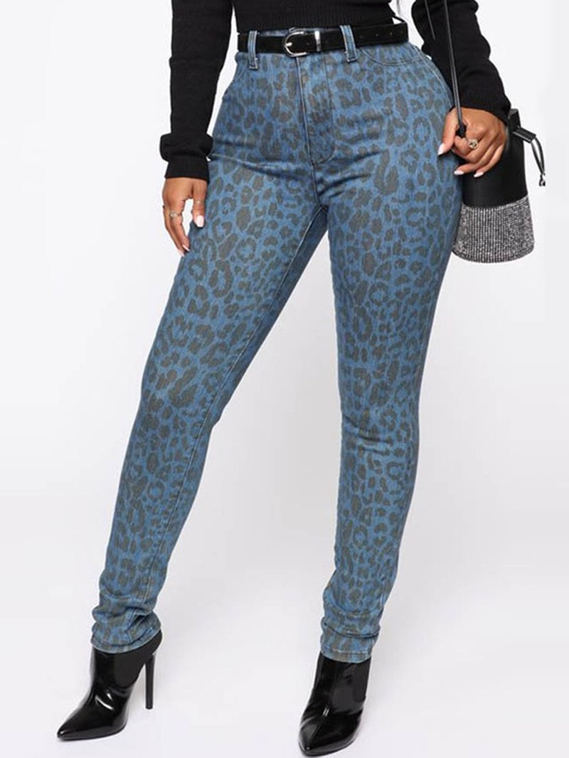 Ericdress Print Skinny Leopard Full Length Pencil Casual Pants