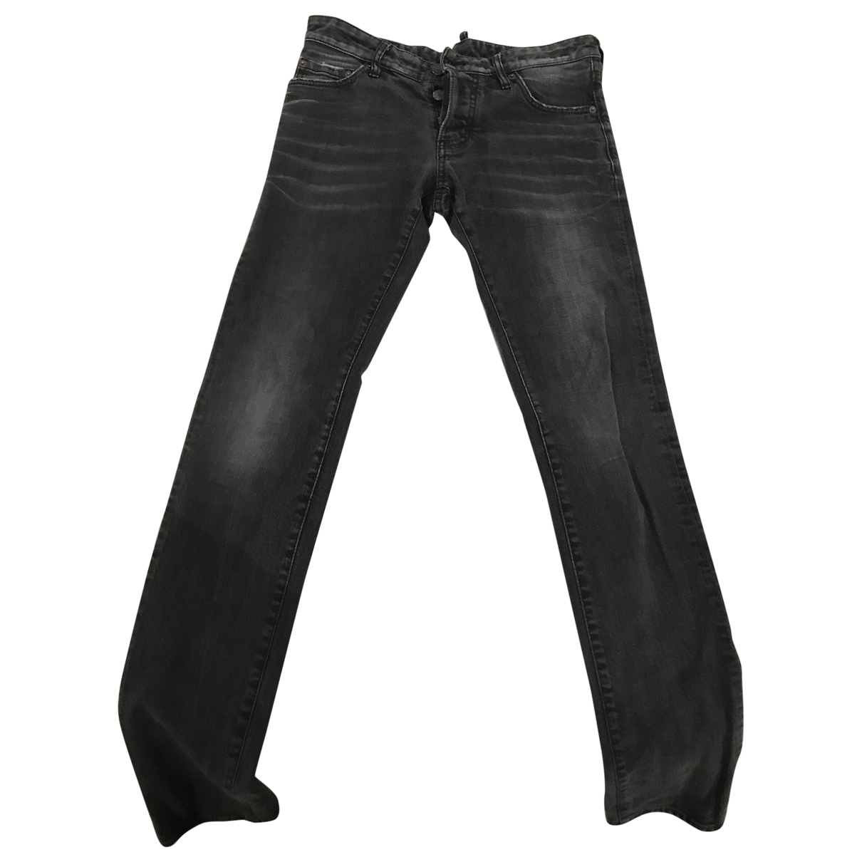 Dsquared2 \N Grey / Black Cotton - elasthane Jeans for Men 44 IT