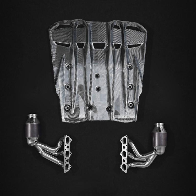 Capristo Headers w/ 200 Cell Sports Cats & Carbon Diffuser Porsche 991.2 GT3/RS
