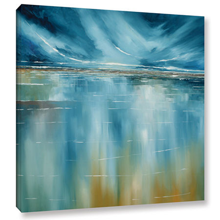 Brushstone Seascape Gallery Wrapped Canvas Wall Art, One Size , Blue