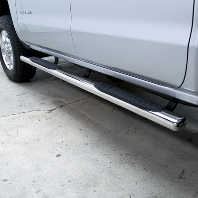 Go Rhino 4 Inch OE Xtreme Plus Side Steps Kit, Cab Length (Polished Stainless) - 684409787PS