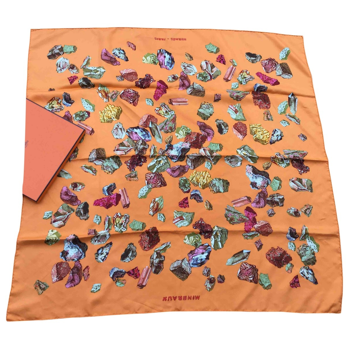 Hermès Carré 90 Orange Silk Silk handkerchief for Women \N