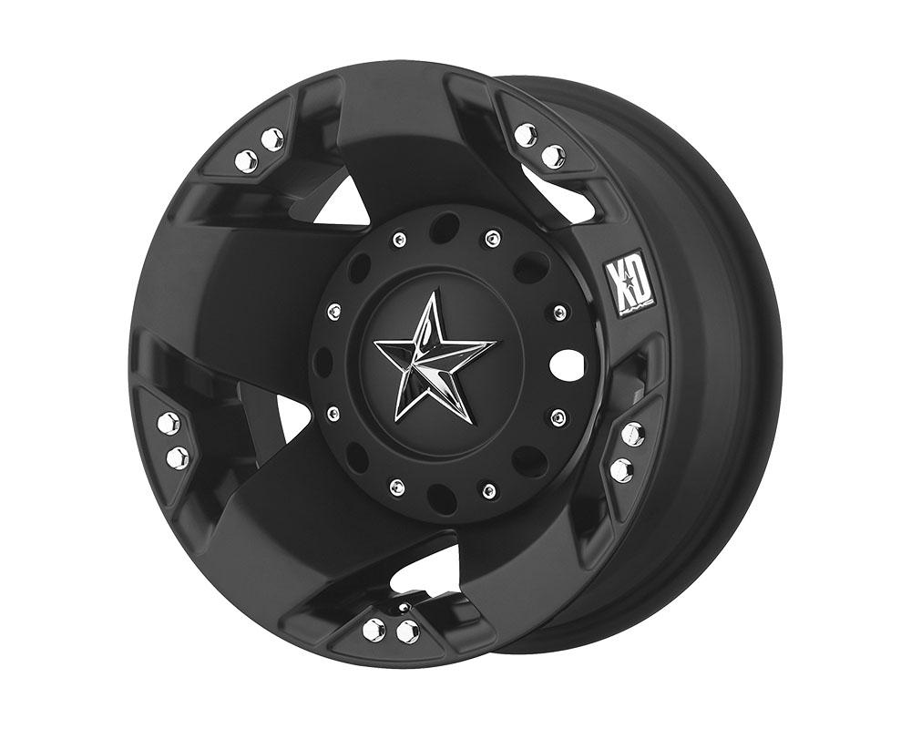XD Series XD77576080794N XD775 Rockstar Wheel 17x6 8x8x165.1 -134mm Matte Black - Rear