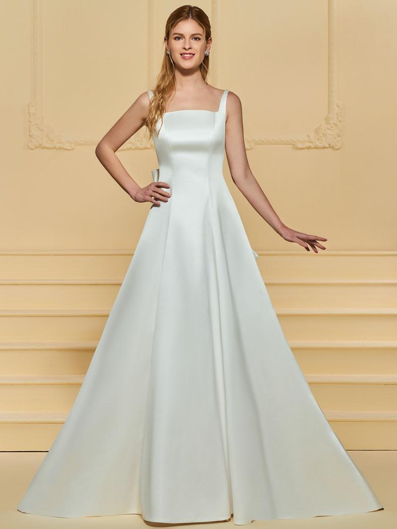 Ericdress Bowknot Low Back Wedding Dress