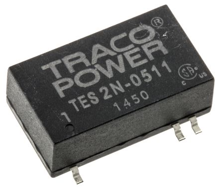 TRACOPOWER TES 2N 2W Isolated DC-DC Converter Surface Mount, Voltage in 4.5 → 9 V dc, Voltage out 5V dc