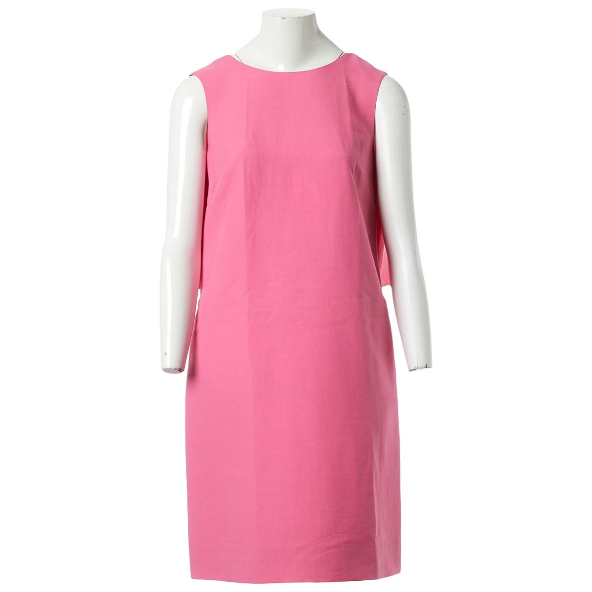 Valentino Garavani \N Pink Wool dress for Women 42 IT