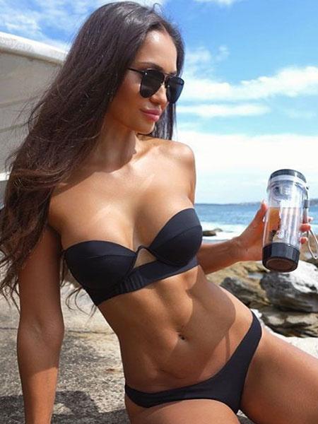 Milanoo Black Bandeau Bikini Women Sexy Strapless Low Waist Swimsuit