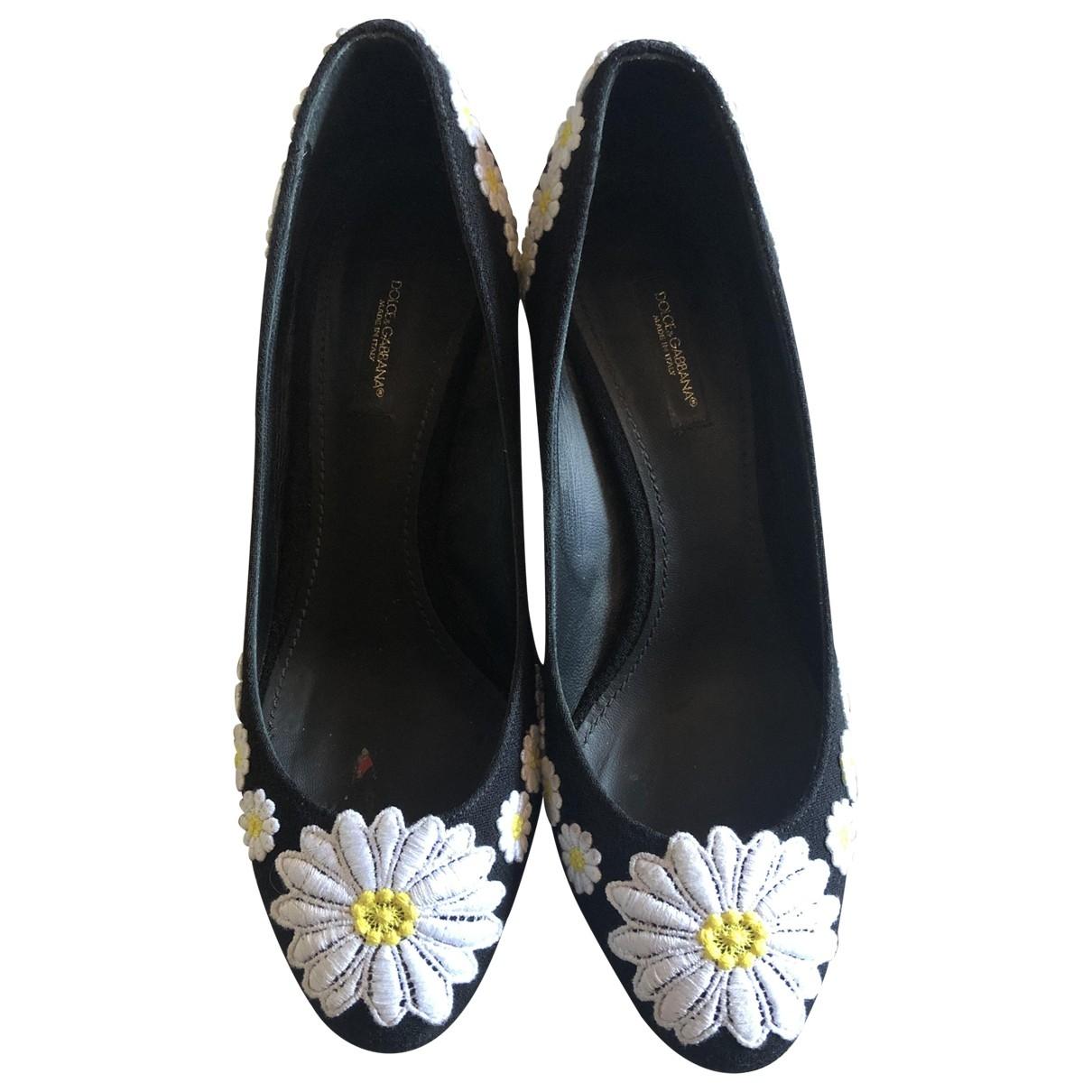 Dolce & Gabbana \N Black Cloth Heels for Women 38.5 EU