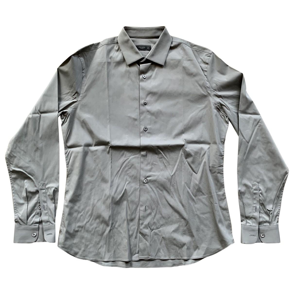 Prada \N Grey Cotton Shirts for Men 42 EU (tour de cou / collar)