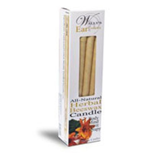 All Natural Beeswax Candle Herbal, 2 Pack by Wallys Natural Products