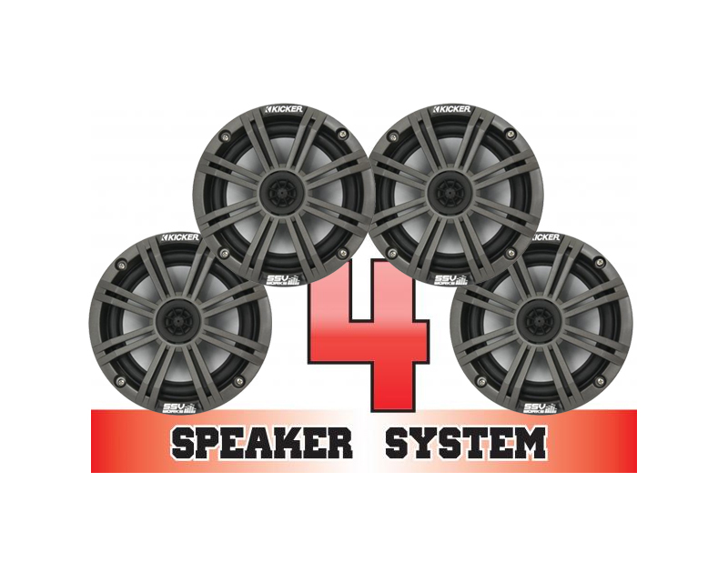 SSV Works COMMANDER-4K Complete 4 Speaker Kicker System Can-Am Commander E XT 2015
