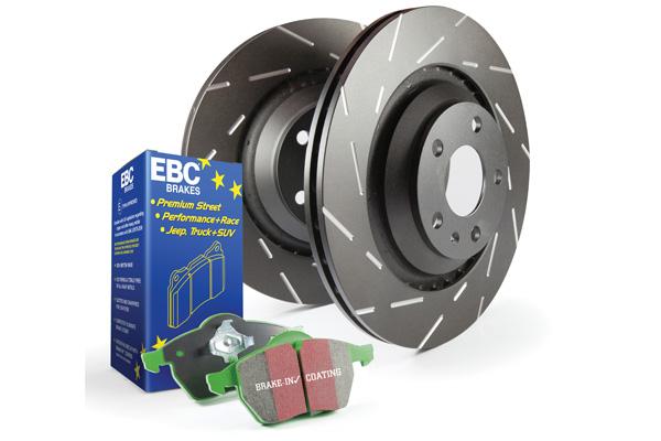 EBC Brakes S2KR2077 S2KR Kit Number REAR Disc Brake Pad and Rotor Kit DP2680+USR577 Volkswagen Rear 2.8L V6
