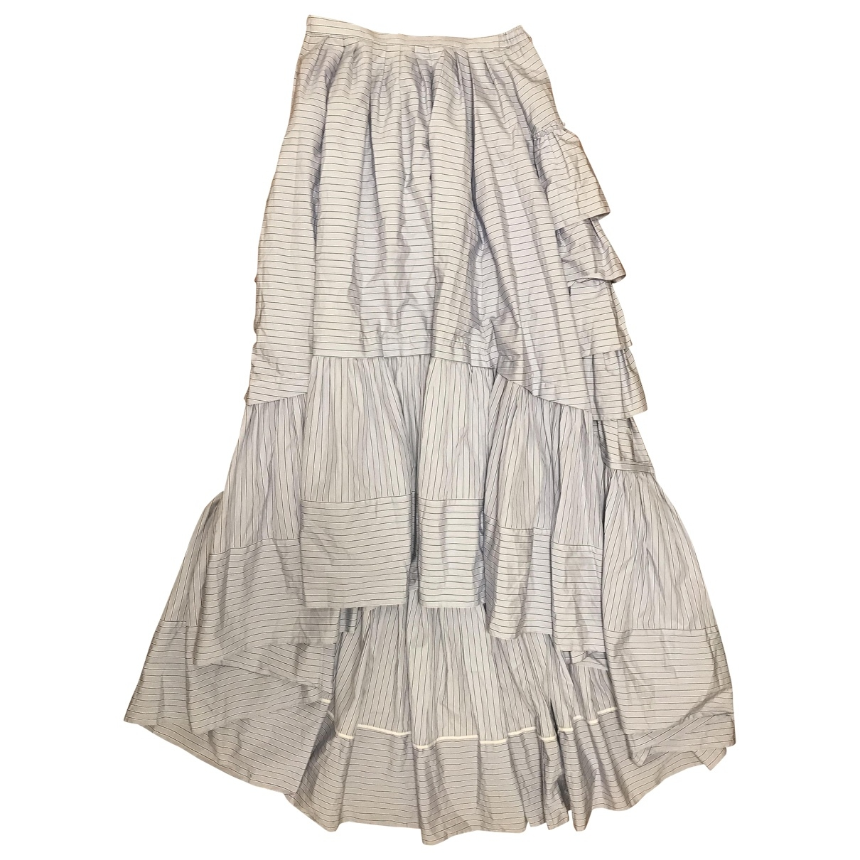 Erdem \N Blue Cotton skirt for Women 8 UK
