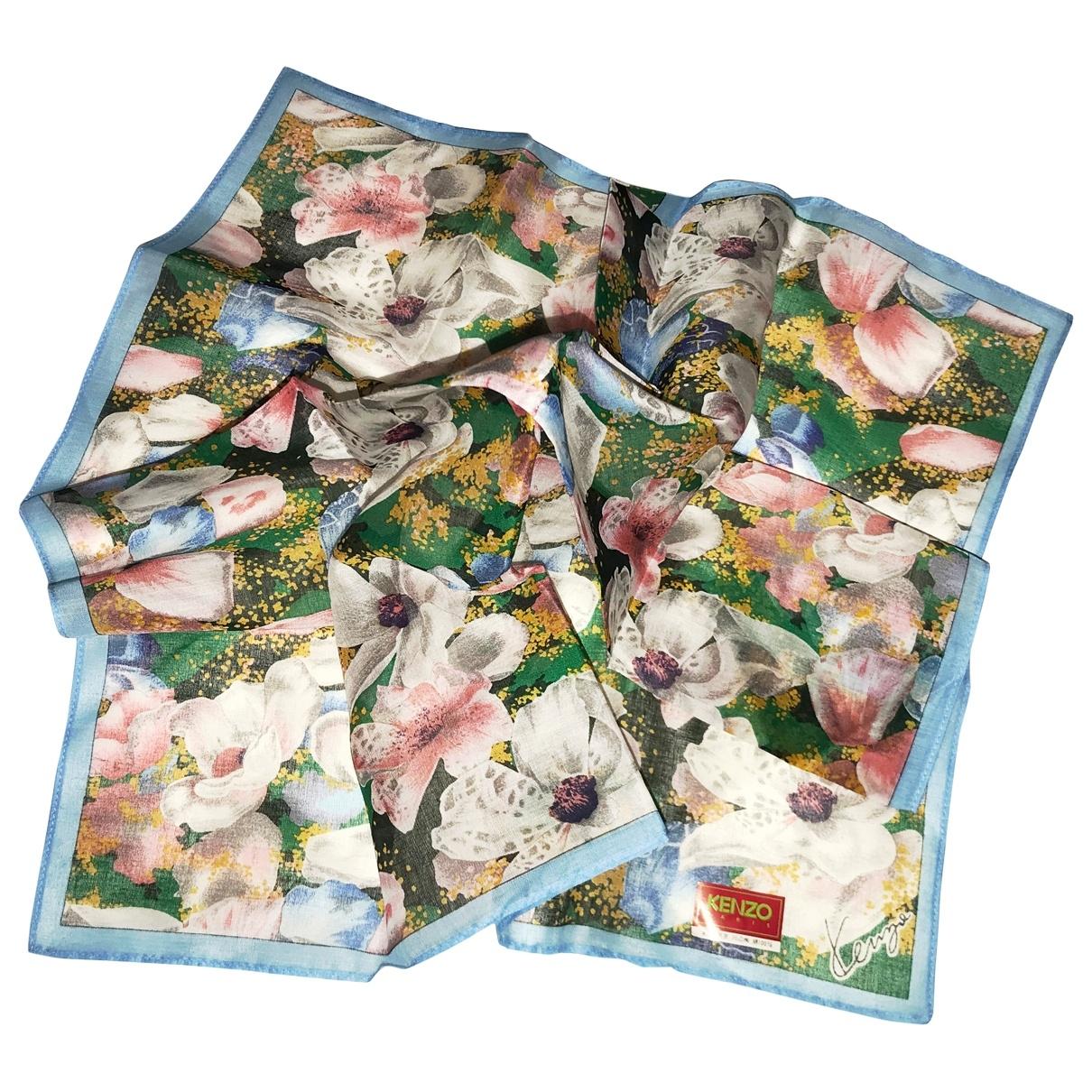 Kenzo \N Turquoise Linen scarf for Women \N