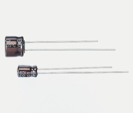 Nippon Chemi-Con 10μF Electrolytic Capacitor 16V dc, Through Hole - EKRE160ELL100MD05D (5)