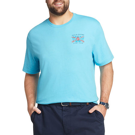 IZOD-Big and Tall Mens Crew Neck Short Sleeve Graphic T-Shirt, 3x-large Tall , Blue