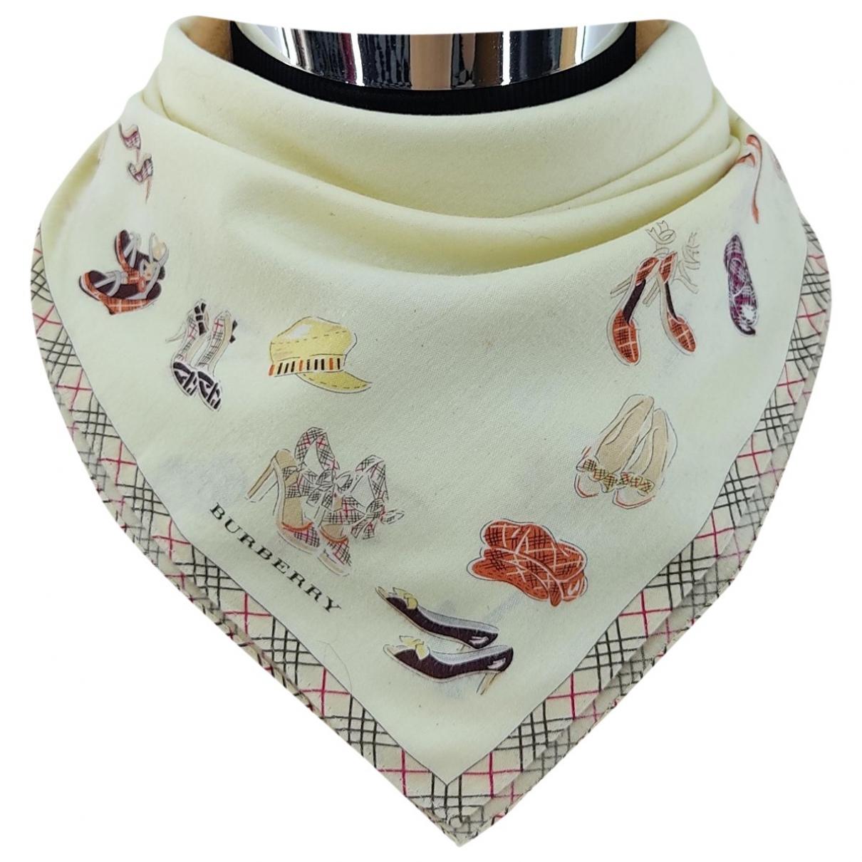 Burberry \N Ecru Cotton scarf & pocket squares for Men \N
