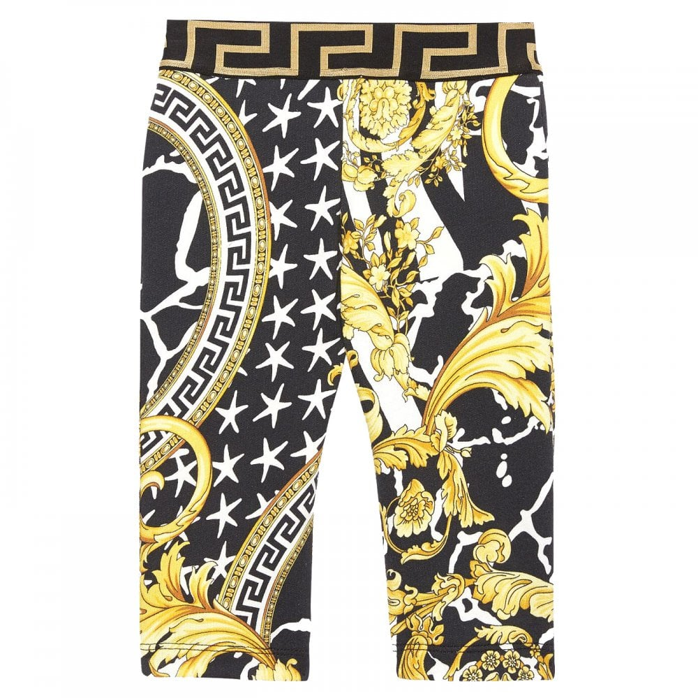 Versace Young Versace Baby All-Over Print Joggers Colour: BLACK, Size: